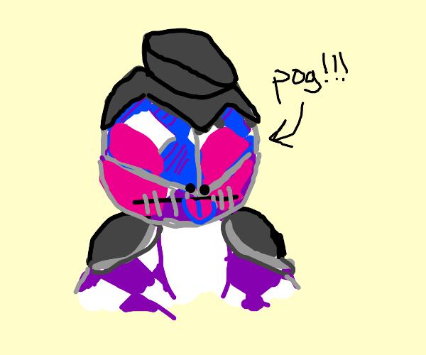 Purple Haze (from Jojo) doing something epic