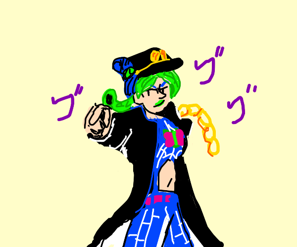Jolyne dressed as Jotaro (jjba)