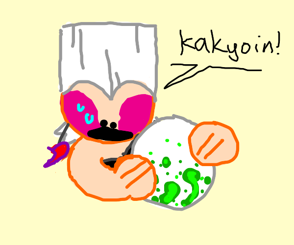 KAKYOIN, DID YOU, A HUMAN, LAY THIS EGG