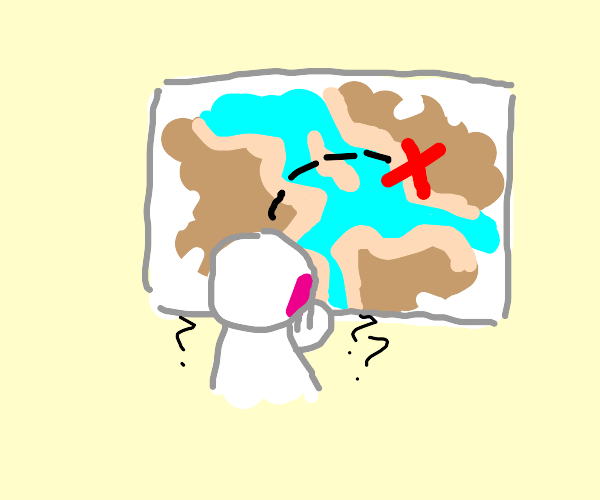 trying to figure out a treasure map on a wall