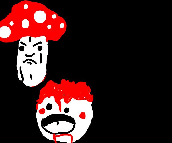 Terrifying mushroom tries to kidnap a child