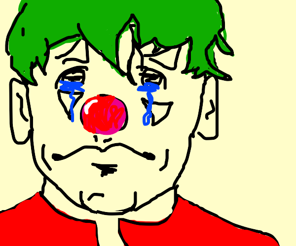 Man is tired from being Joker