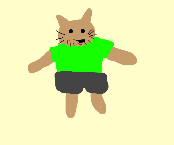 Shaggy is turning into a cat/giraffe hybrid