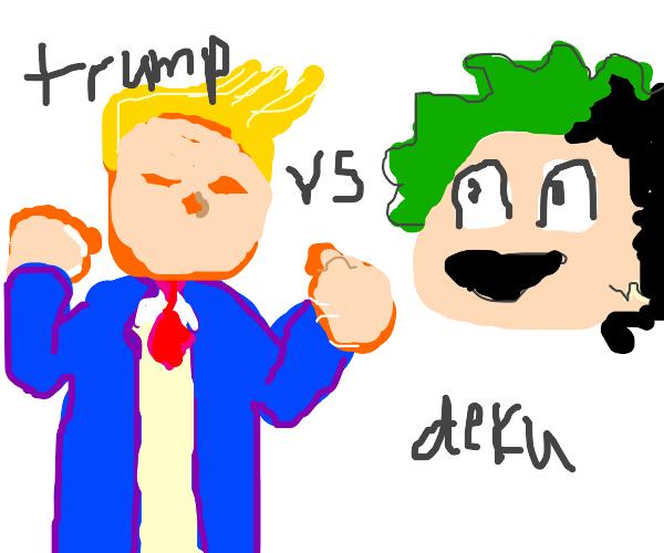 donald trump vs deku