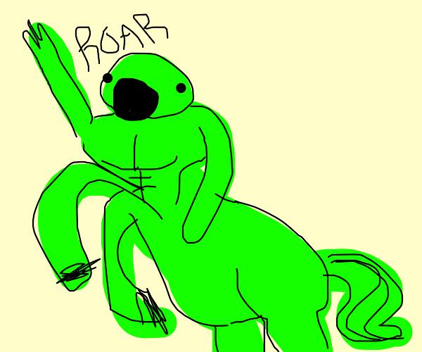 This green centaur is roaring!