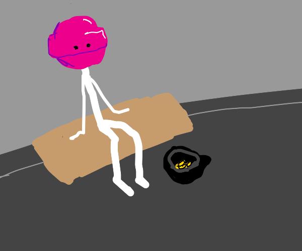 homeless lollipop