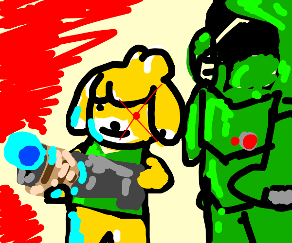 Doomguy and Isabelle :)