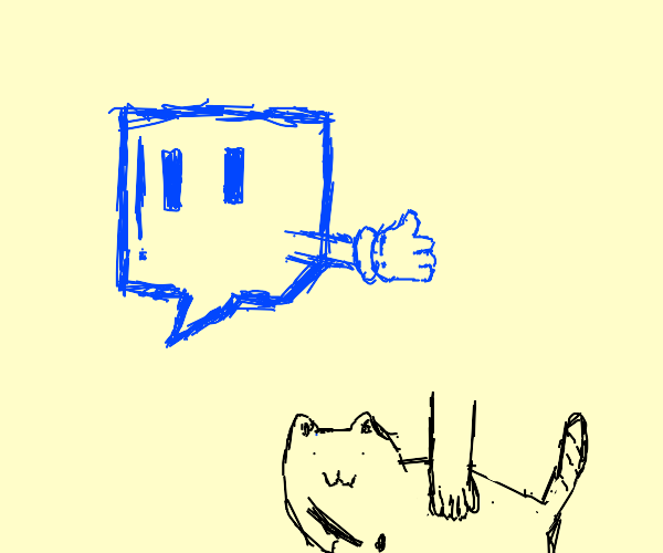 Twitch approves petting cats