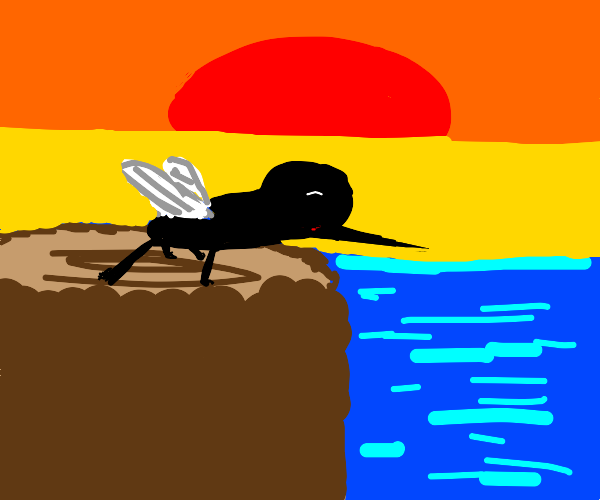 Mosquito over the Ocean