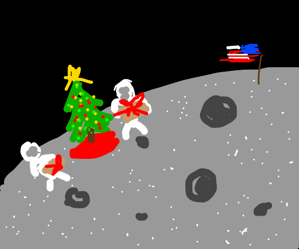 It's Christmas on the moon
