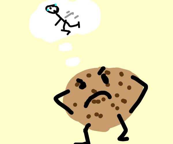 A cookie that was annoyed by running