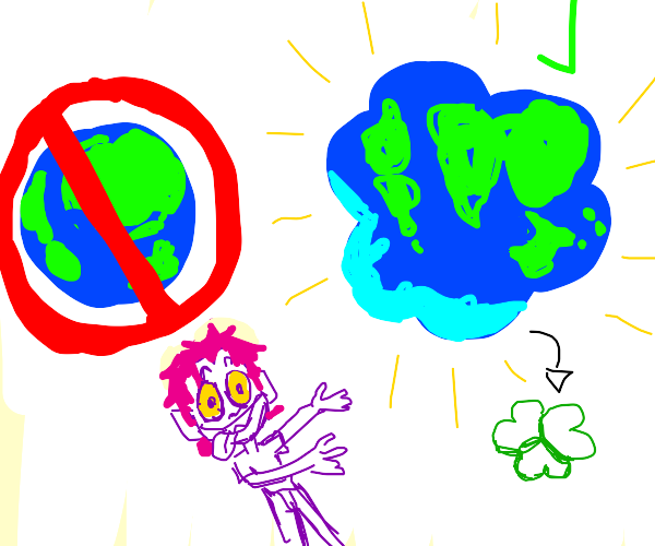 the earths actually a clover shape, not round