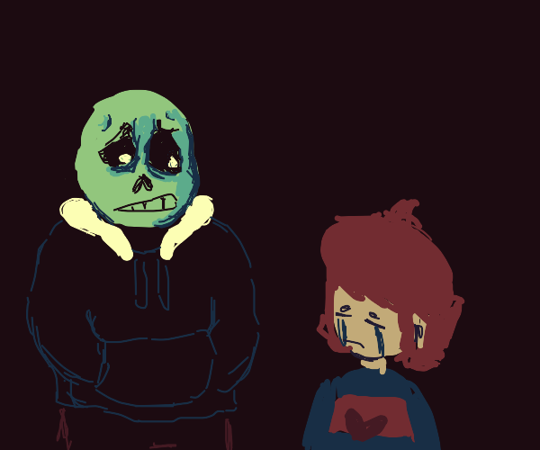 Sans with a Crying baby