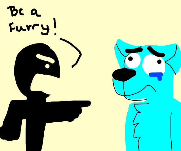 a person is forced to become a furry