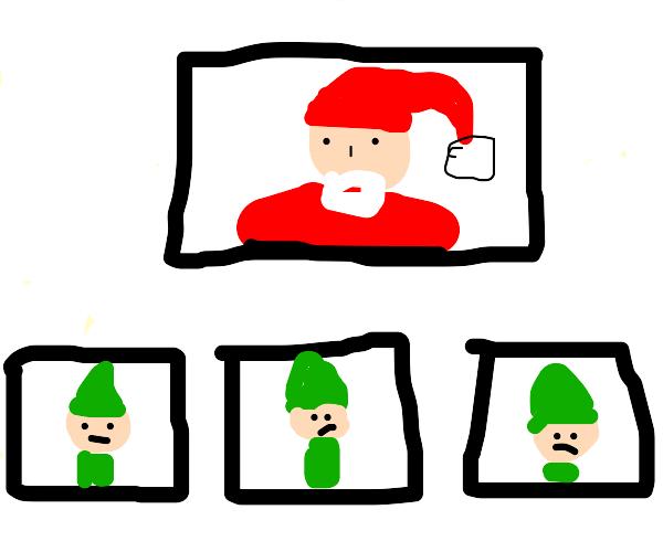 Santa video conference