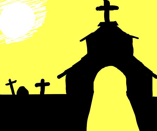 CHURCH IN GRAVES