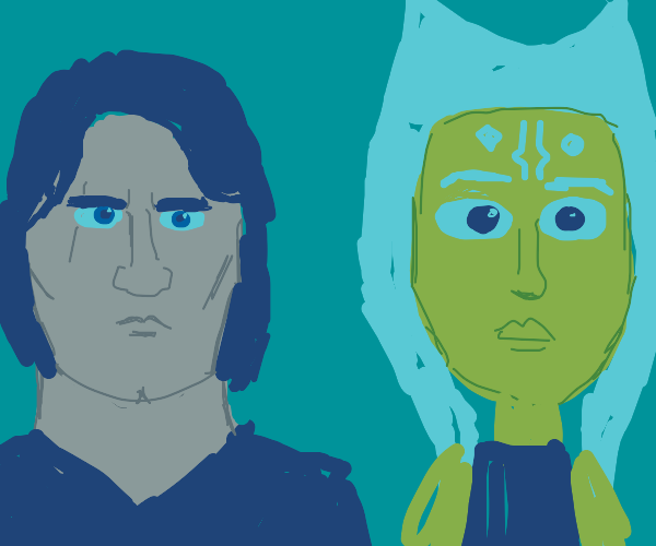 Annakin Skywalker with Ahsoka tano