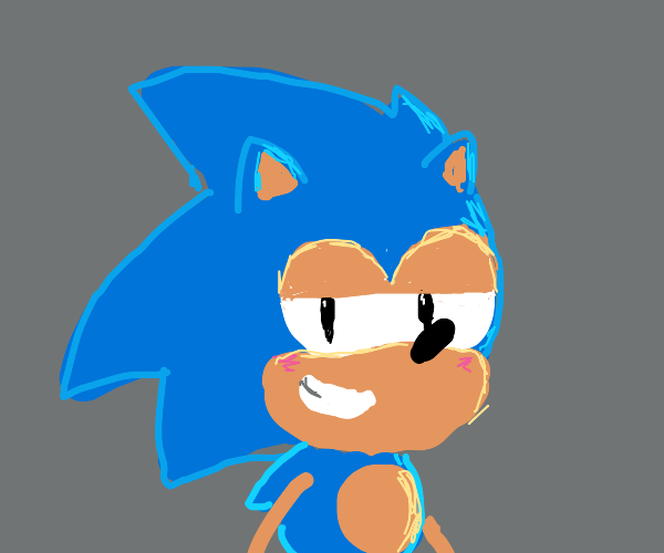 Sonic seductively stares into your eyes