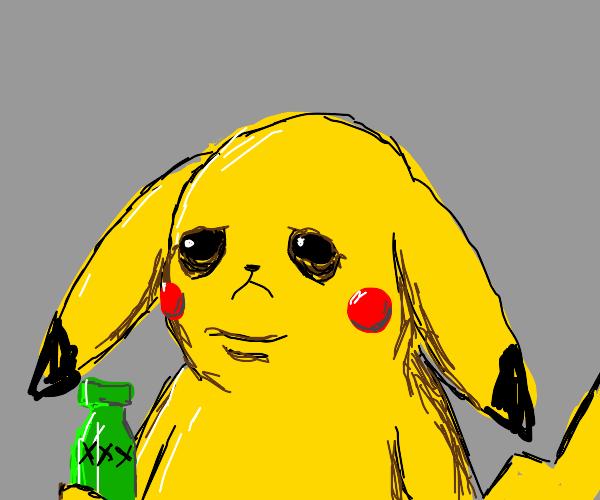 drunk depressed pikachu