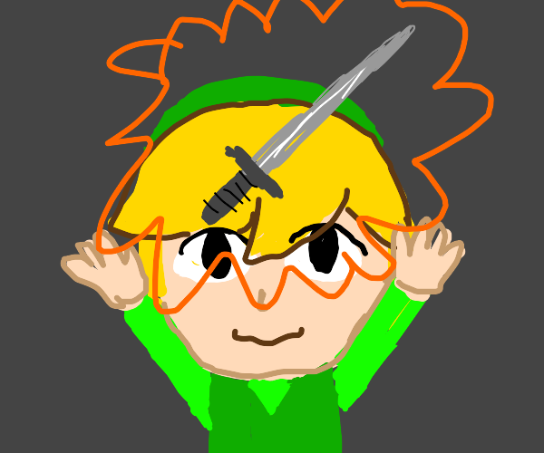 link gets a sword from a chest