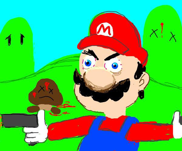 Mario finally snaps (/w gun)
