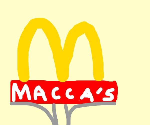 various red & yellow logos