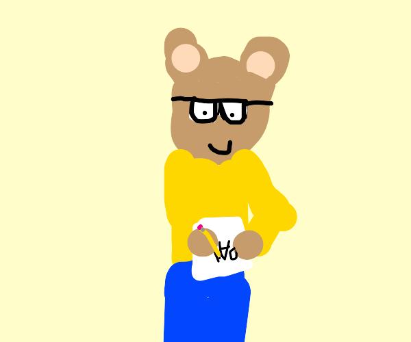"Arthur writes note about ""pal"""