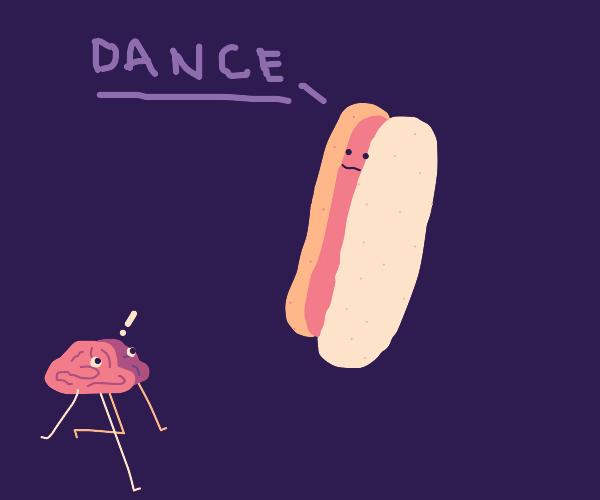 small brain dancing 4 food