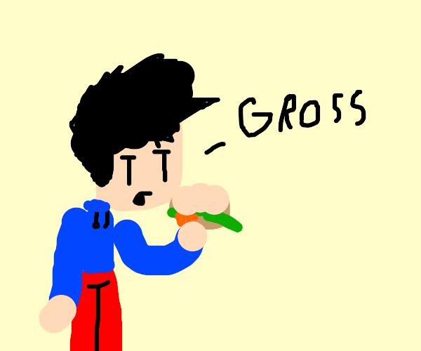 A gross sandwich