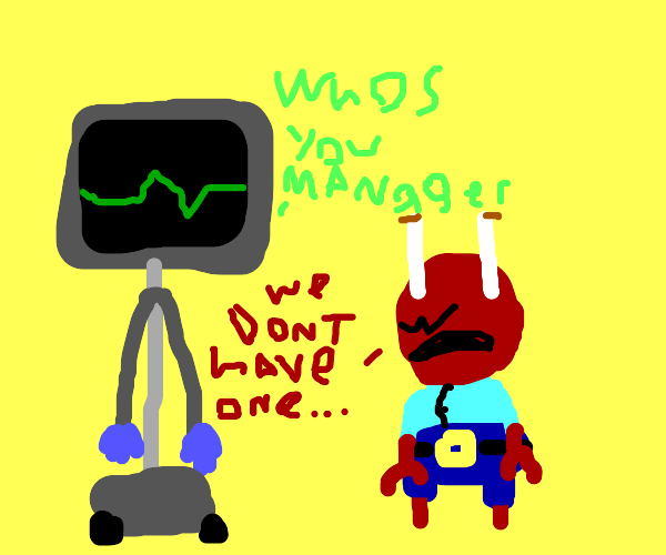 Karen asks Mr Krabs for the manager