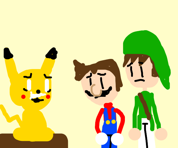 Pikachu on crack