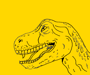 old man dinosaur ( amazing drawing BTW)