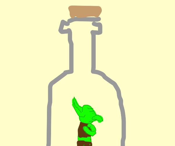 Goblin captured in a bottle