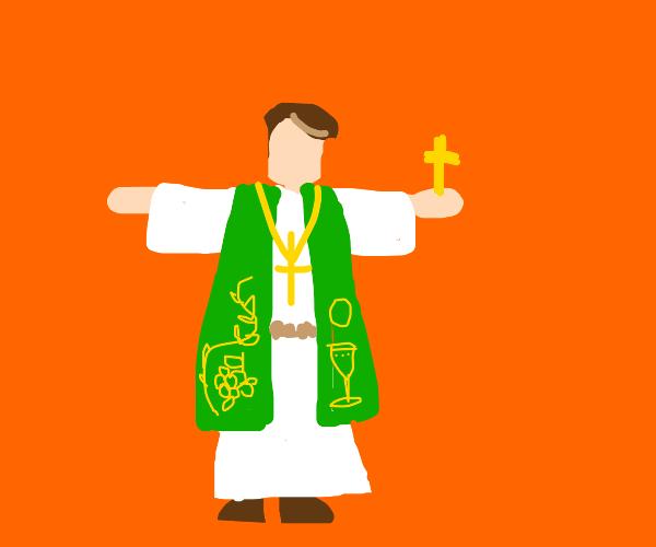 T-posing Priest