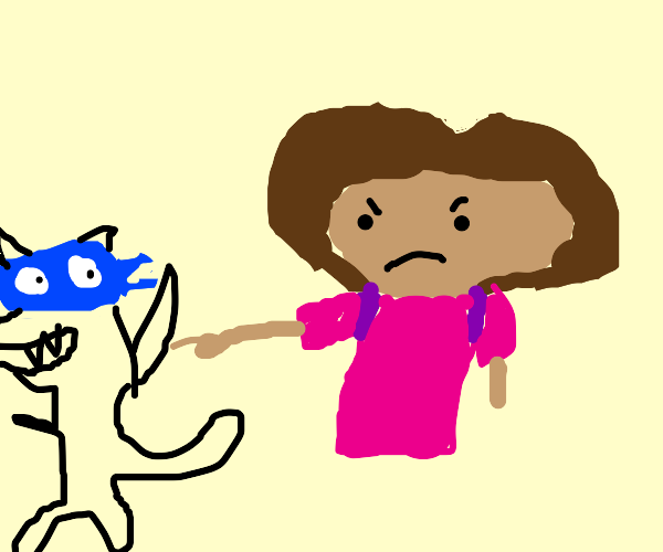 dora does not like swiper and questions him