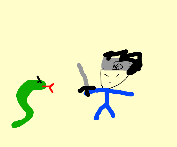 Orochimaru and Sasuke fight