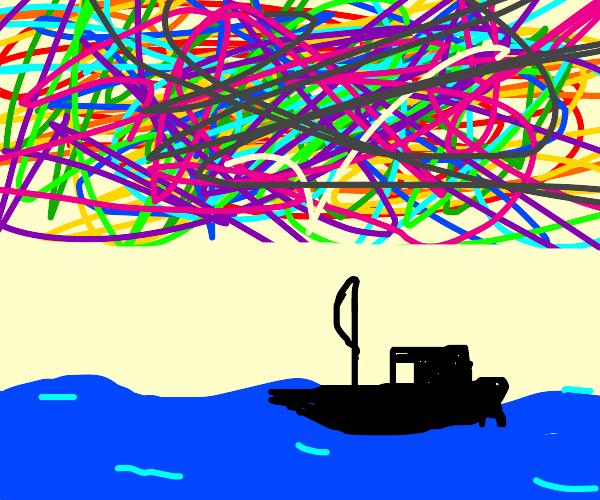 Sailing under a Jackson Pollock