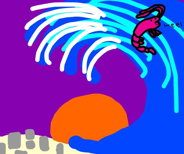 shrimp in tsunami