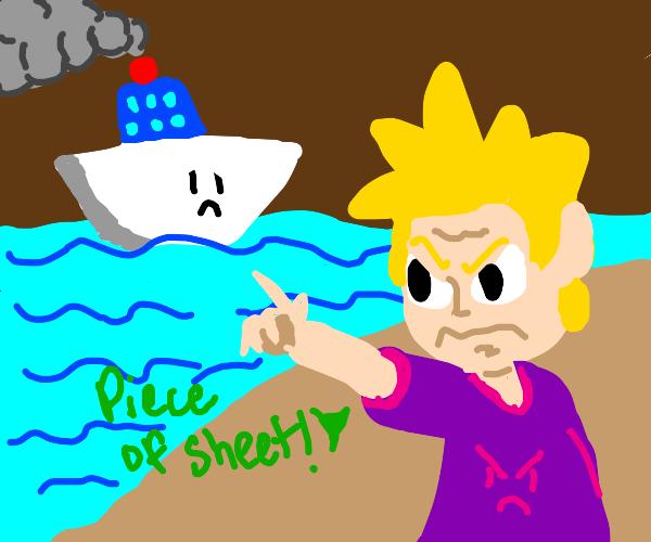 blonde guy hates that ship