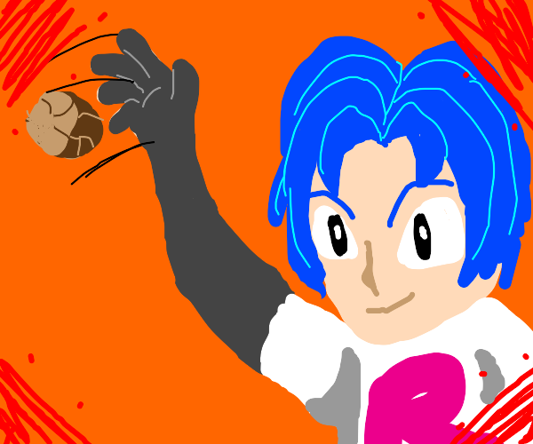 James from Team Rocket throwing a rock