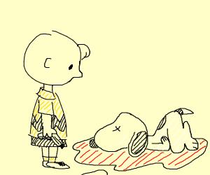 Charlie Brown killed Snoopy!!