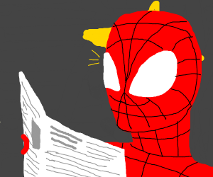spiderman shocked at newspaper