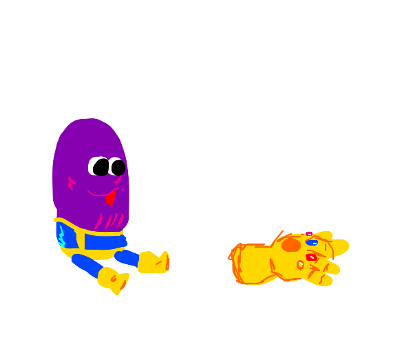 thanos without arms or a neck