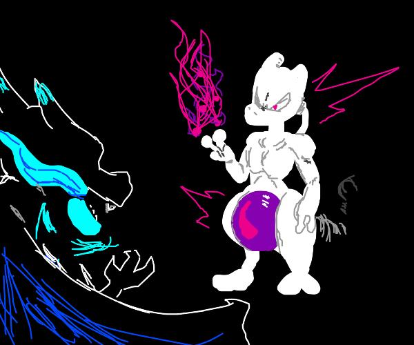 Mega Charizard X V.S. Mewtwo