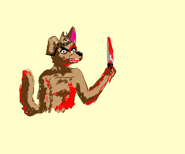 Anthro Dog who is a Serial Killer