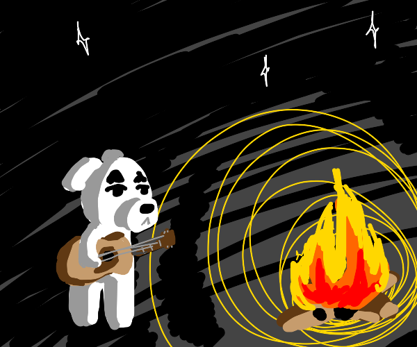 kk slider stands in front of a fire