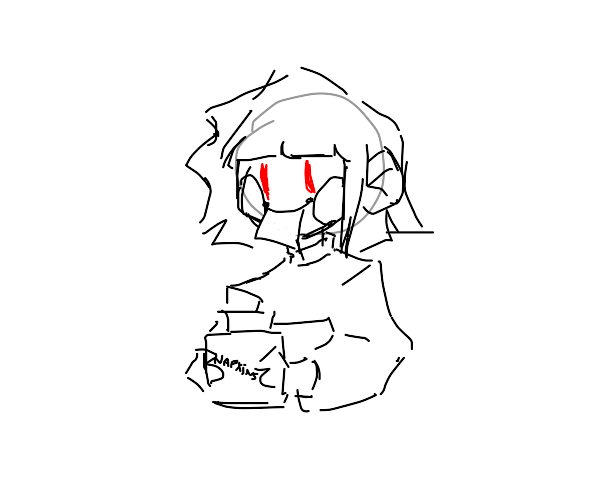 Chara eats napkins