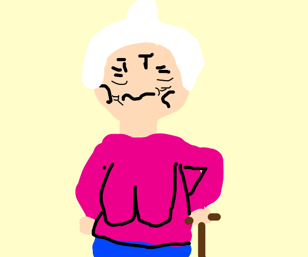 granny with some saggy (.)(.)