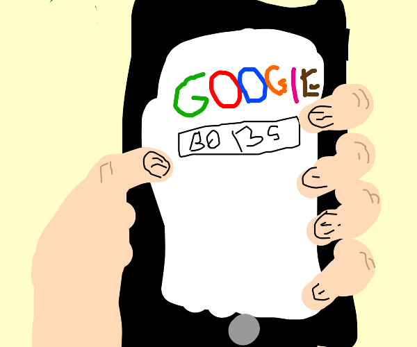 Google search on a phone