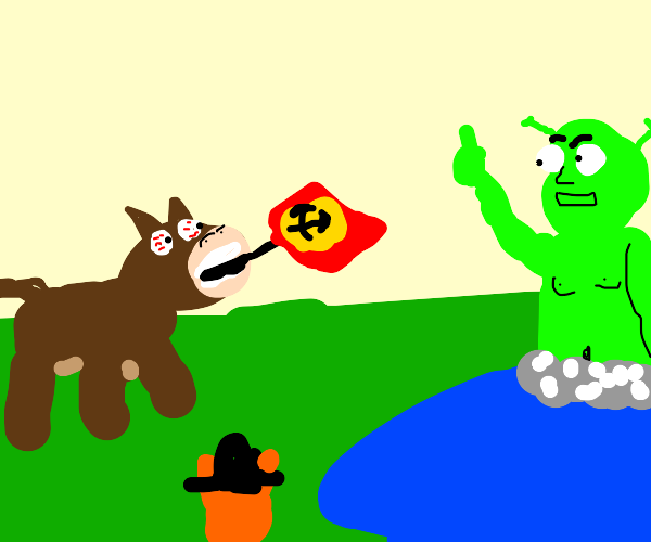 donkey becomes a communist to seize the swamp
